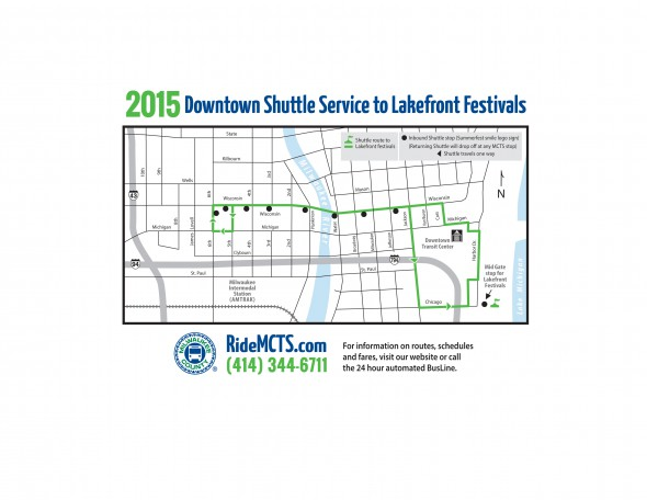 MCTS Lakefront Festival Route - 2015