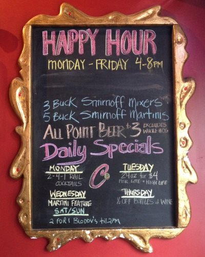 Happy Hour specials at Club Charlies. Photo by Joey Grihalva.