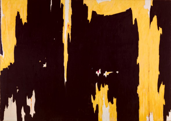Clyfford Still (American, 1904–1980). 1957-D No. 1, 1957. Oil on canvas. Support: 113 x 159 inches (287 x 403.9 cm). Collection of Albright-Knox Art Gallery, Buffalo, NY. Gift of Seymour H. Knox, Jr., 1959. © 2013 The Estate of Clyfford Still and The Clyfford Still Museum, Denver, CO.