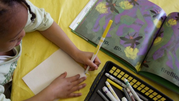 A student at MPS' Starms Early Childhood Center
