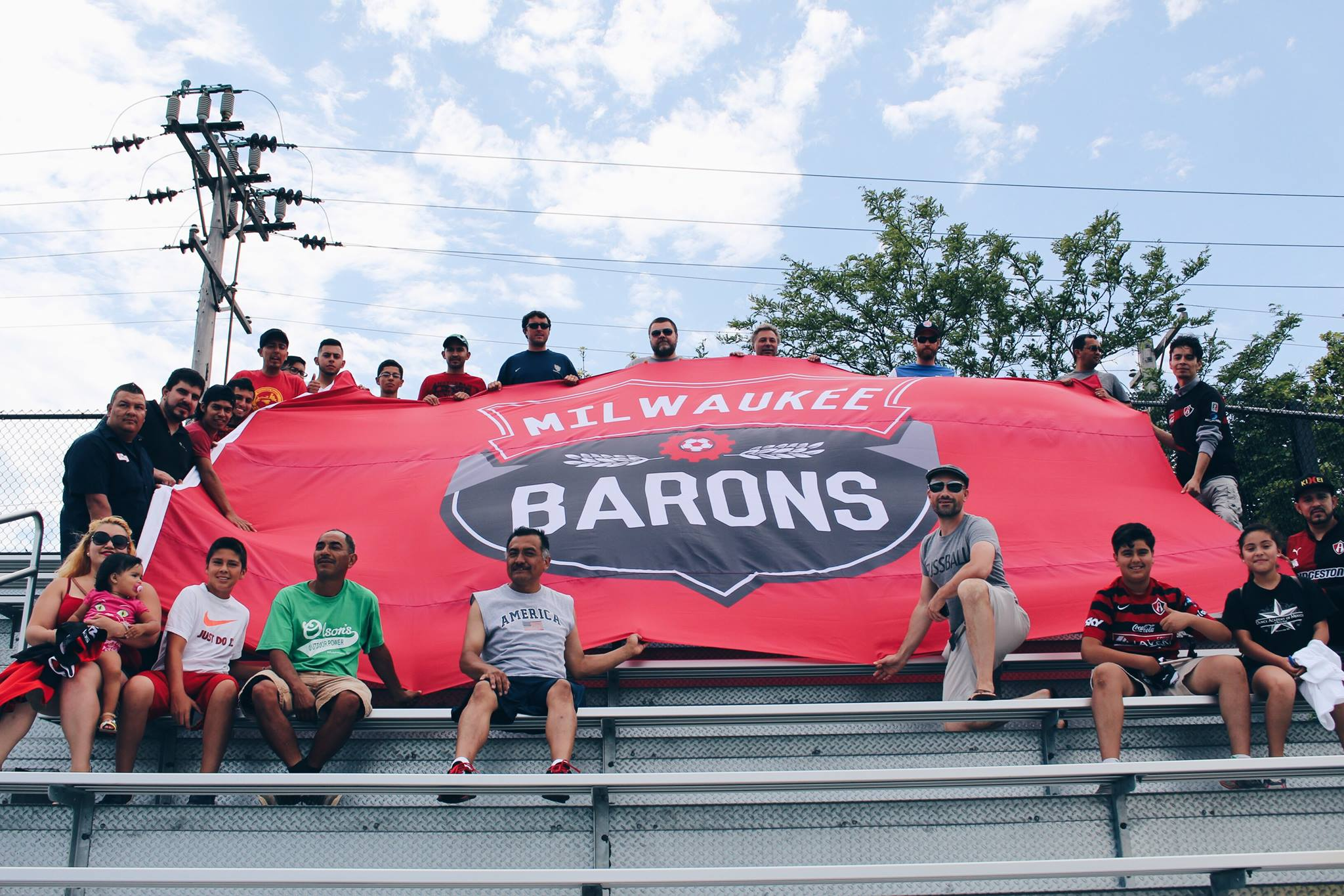 Milwaukee Barons Flag. Photo from the Milwaukee Soccer Development Group.