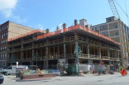 The Kimpton Hotel is under construction in the Historic Third Ward. Photo by Jack Fennimore.