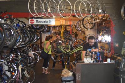 The bike shop. Photo by Jack Fennimore.