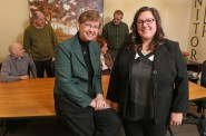 Dr. Marilyn Frenn and Mary Jo Wiemiller. Photo courtesy of Marquette University.