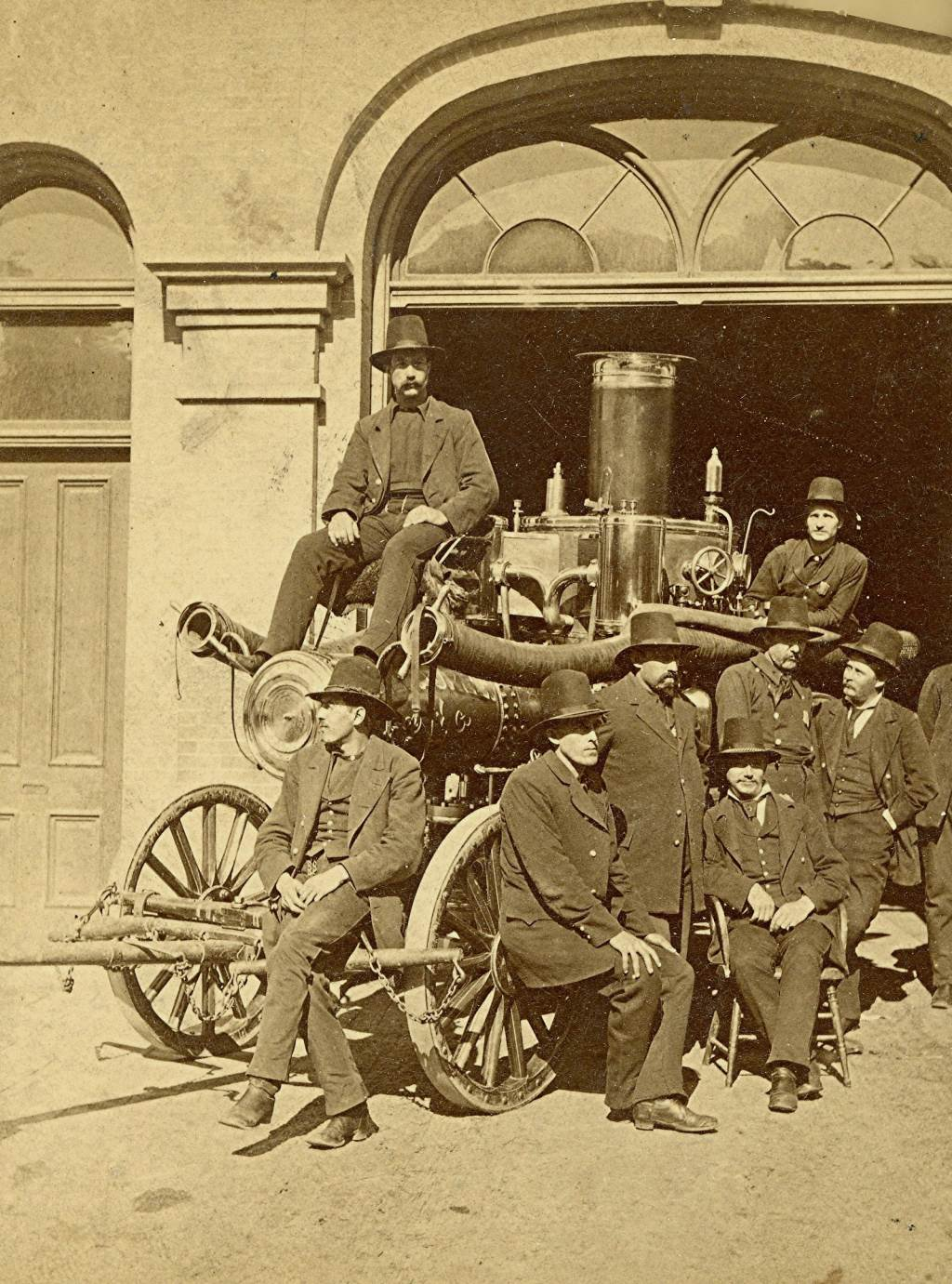 Fire Fighters in Dress Suits, 1880. Image courtesy of Jeff Beutner.