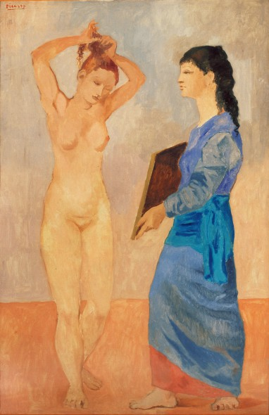 Pablo Picasso (Spanish, 1881–1973). La Toilette, 1906. Oil on canvas. 59 1/2 x 39 inches (151.1 x 99.1 cm). Collection of Albright-Knox Art Gallery, Buffalo, NY. Fellows for Life Fund, 1926. © 2013 Estate of Pablo Picasso / Artists Rights Society (ARS), New York.