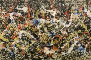 Jackson Pollock (American, 1912-1956). Convergence, 1952. Oil on canvas. Support: 93 1/2 x 155 inches (237.49 x 393.7 cm). Collection of Albright-Knox Art Gallery, Buffalo, NY. Gift of Seymour H. Knox, Jr., 1956. © 2013 Pollock-Krasner Foundation/ Artists Rights Society, New York.