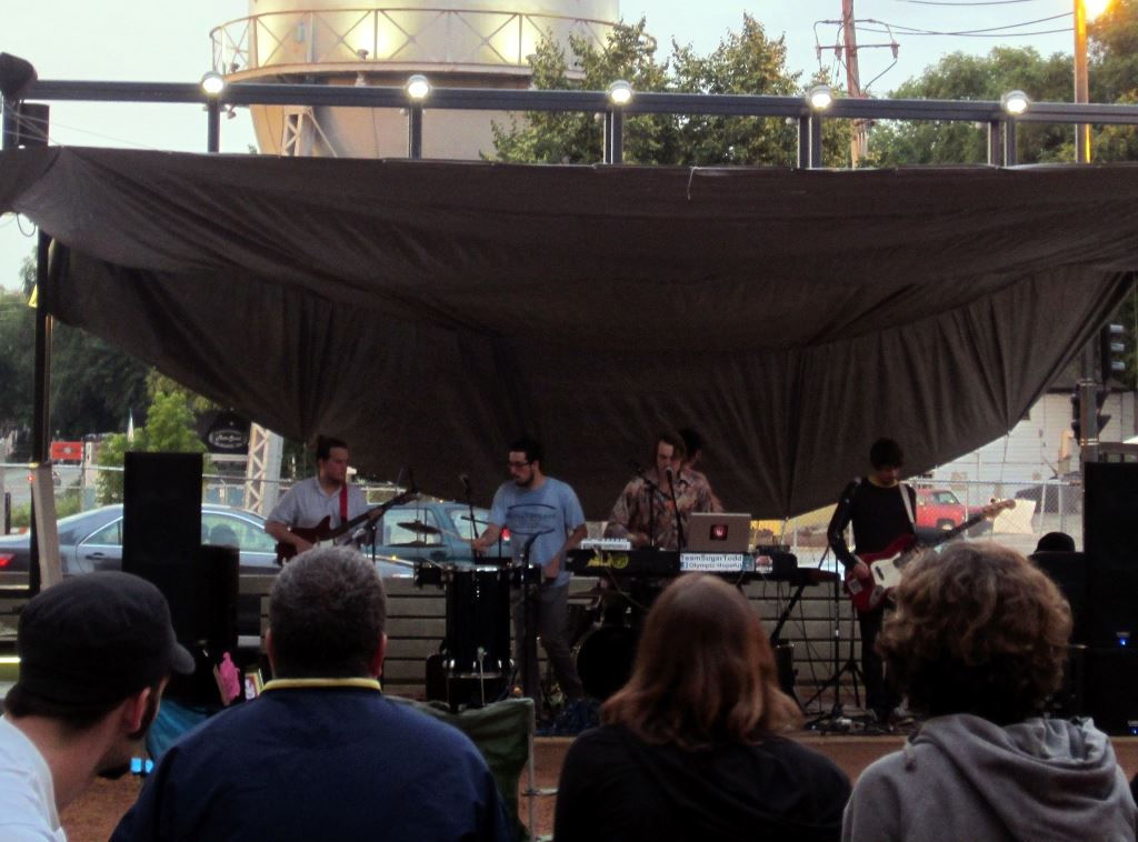 The Fatty Acids performing at the Denim Park Music Series on July 31st, 2013. Photo by Allison Peterson.