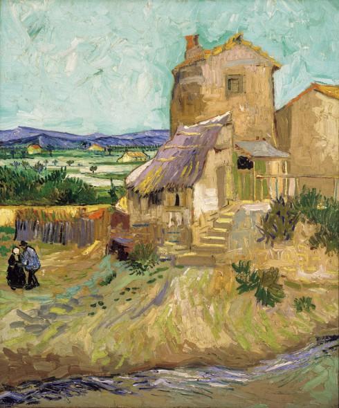 Vincent van Gogh (Dutch, 1853-1890). Le Maison de la Crau (The Old Mill), 1888. Oil on Canvas. 25 ½ x 21 ¼ inches (64.8 x 54 cm). Bequest of A. Conger Goodyear, 1966.