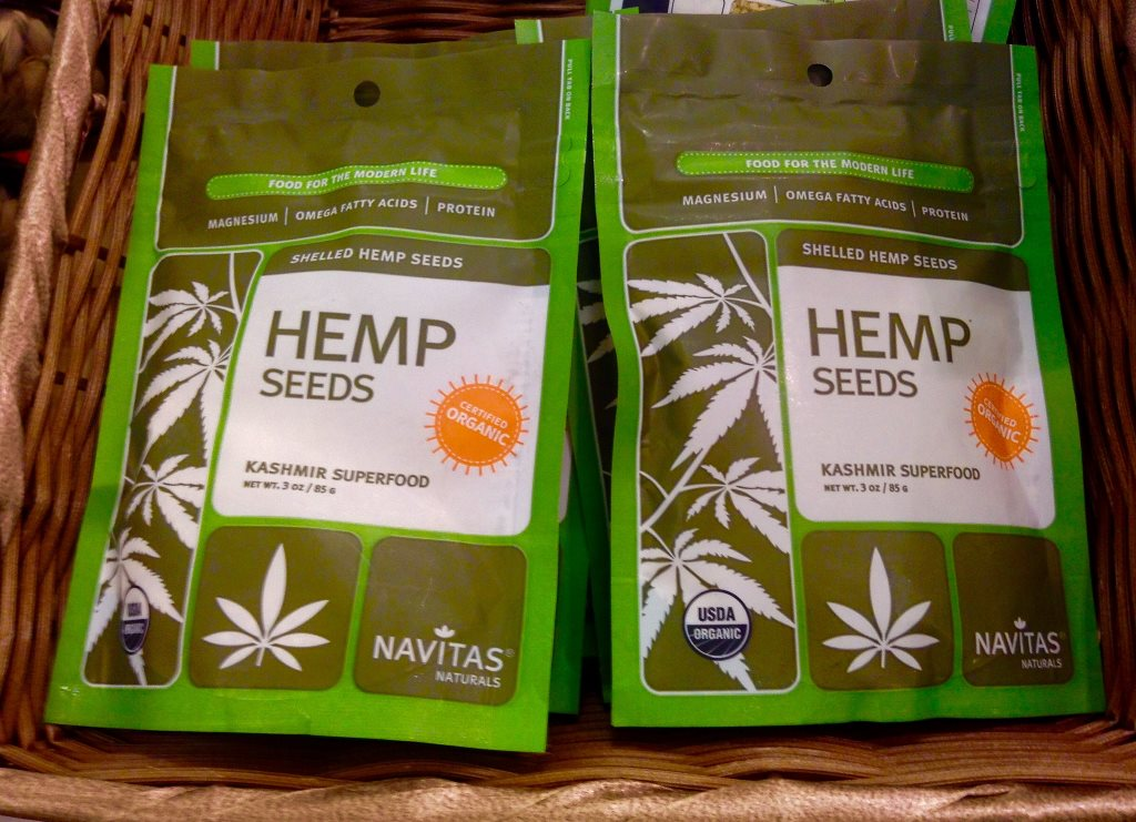 Hemp seeds at a Target store, and soon in your beer? Photo by Mike Mozart.