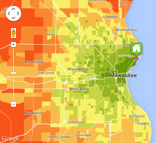 Estimated average driving costs in the Milwaukee area.