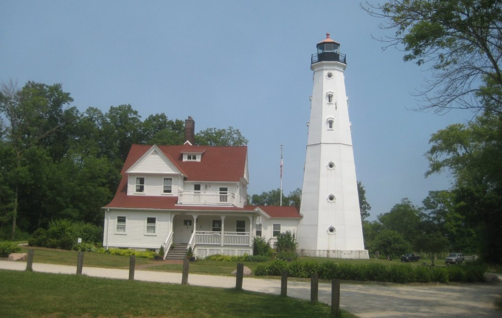 North Point Light Station and Keeper's Quarters. Photo by Michael Horne.