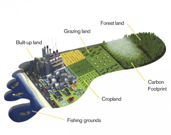 Global Footprint Network measures a population's demand for and ecosystems' supply of resources and services. Image: Global Footprint Network