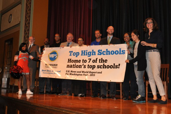 A celebration of MPS' top-ranked high schools, including King and Reagan. Photo courtesy of MPS.