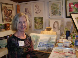 Erin Callahan Blum in Studio. Photo courtesy of the CCC.