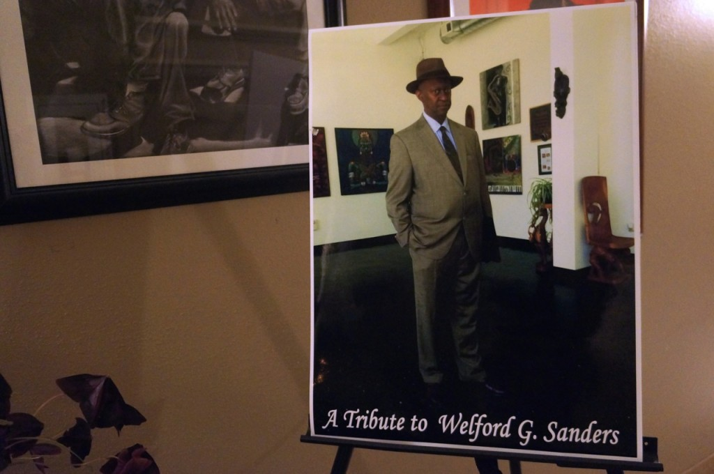 The late Welford Sanders, who was well known for his many successful redevelopment projects in the central city, was honored during the recent Gallery Night on King Drive. Photo by Adam Carr.