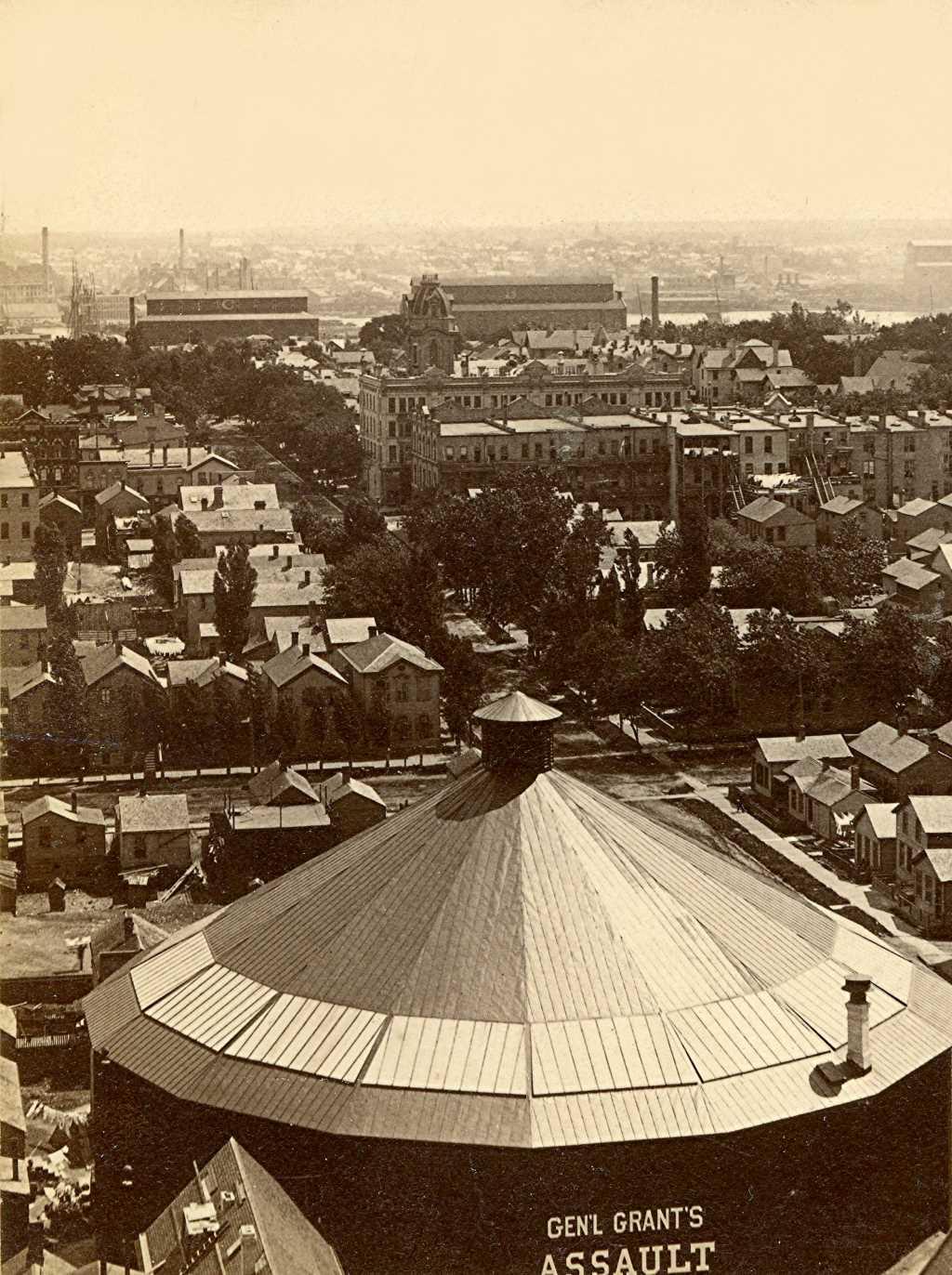 Panorama of Milwaukee, 1885. Image courtesy of Jeff Beutner.