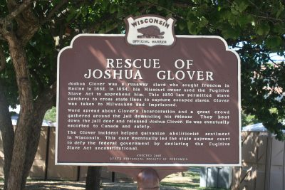 Rescue of Joshua Glover marker. Photo by Carl Baehr.