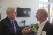Mayor Tom Barrett and Gary Gorman at the opening of Frederick Lofts. Photo by Michael Horne.