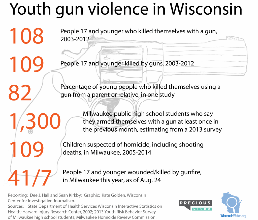 Youth gun violence in Wisconsin