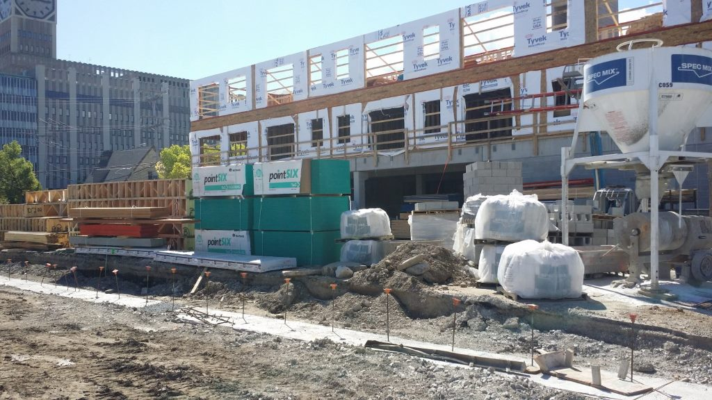 Construction is underway at 1029 S. 1st St. Photo by Jack Fennimore.