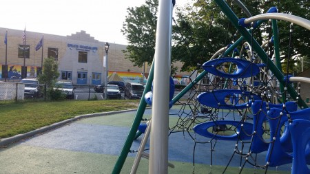 Walker Square Park is located directly across the street from Bruce Guadalupe Community School. Photo by Edgar Mendez.