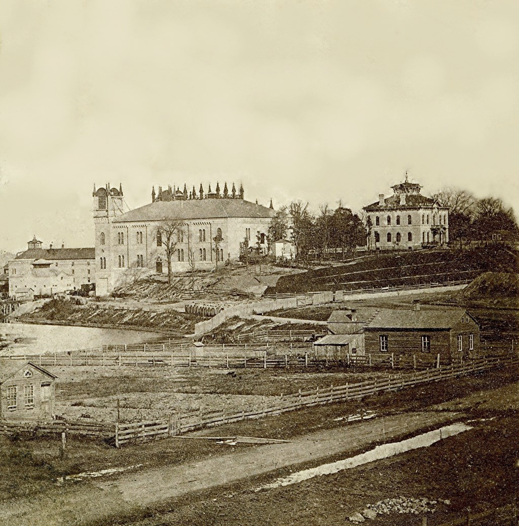 1860s image features the Menomonee Brewery and owner Charles Melms' Italianate home. Image courtesy of Jeff Beutner.