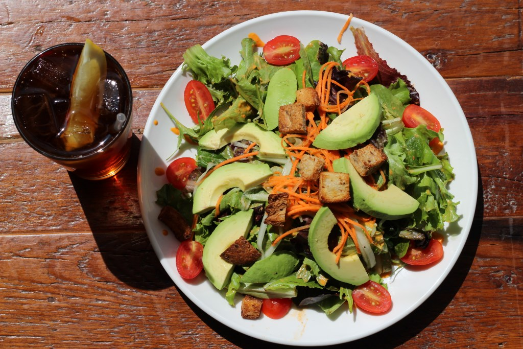 House salad at the Beerline Cafe. Photo by Thunder Tortoise.