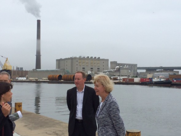 Senator Tammy Baldwin at the Milwaukee Harbor. Photo by Graham Kilmer.
