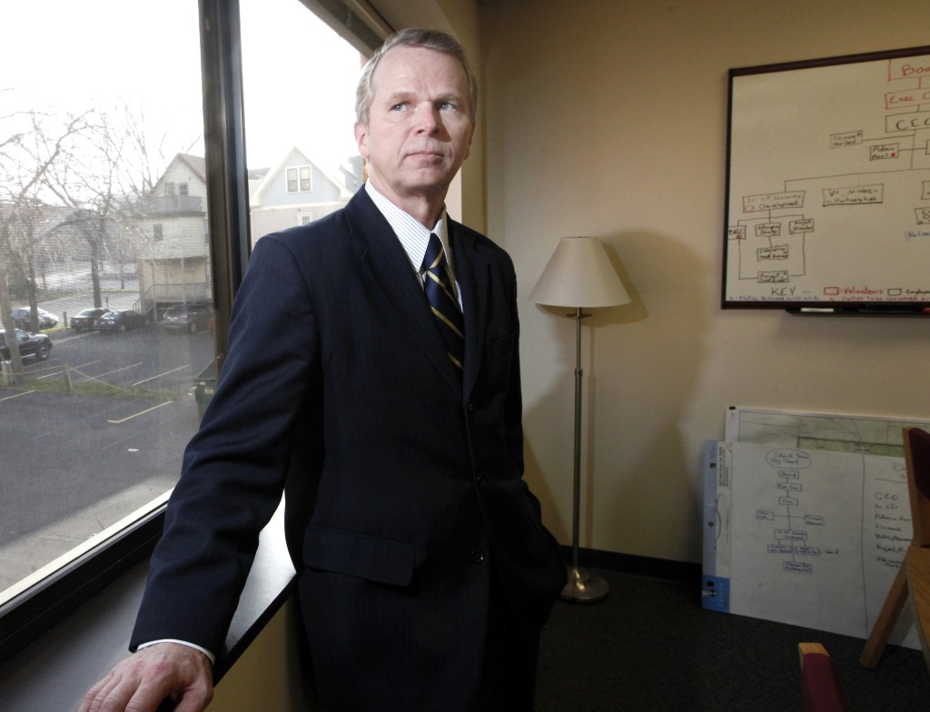 Paul Jadin, the former head of the Wisconsin Economic Development Corp., now leads Madison Region Economic Partnership, or MadREP. Jadin said he personally handled the largest deals awarded to 24 companies without staff review during his tenure, and that he was comfortable with the level of scrutiny of those deals. Photo by John Hart of the Wisconsin State Journal.
