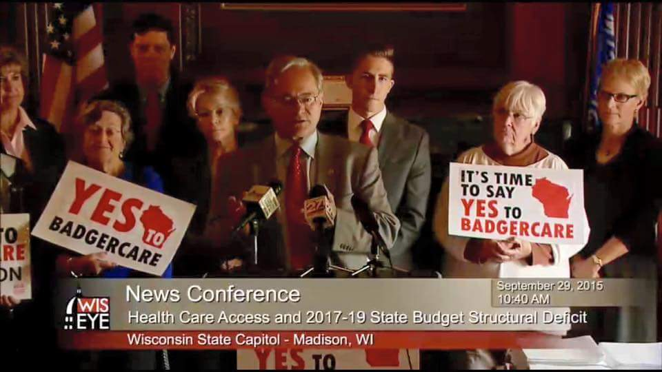 9-29-15 news conference. Photo courtesy of Citizen Action of Wisconsin.