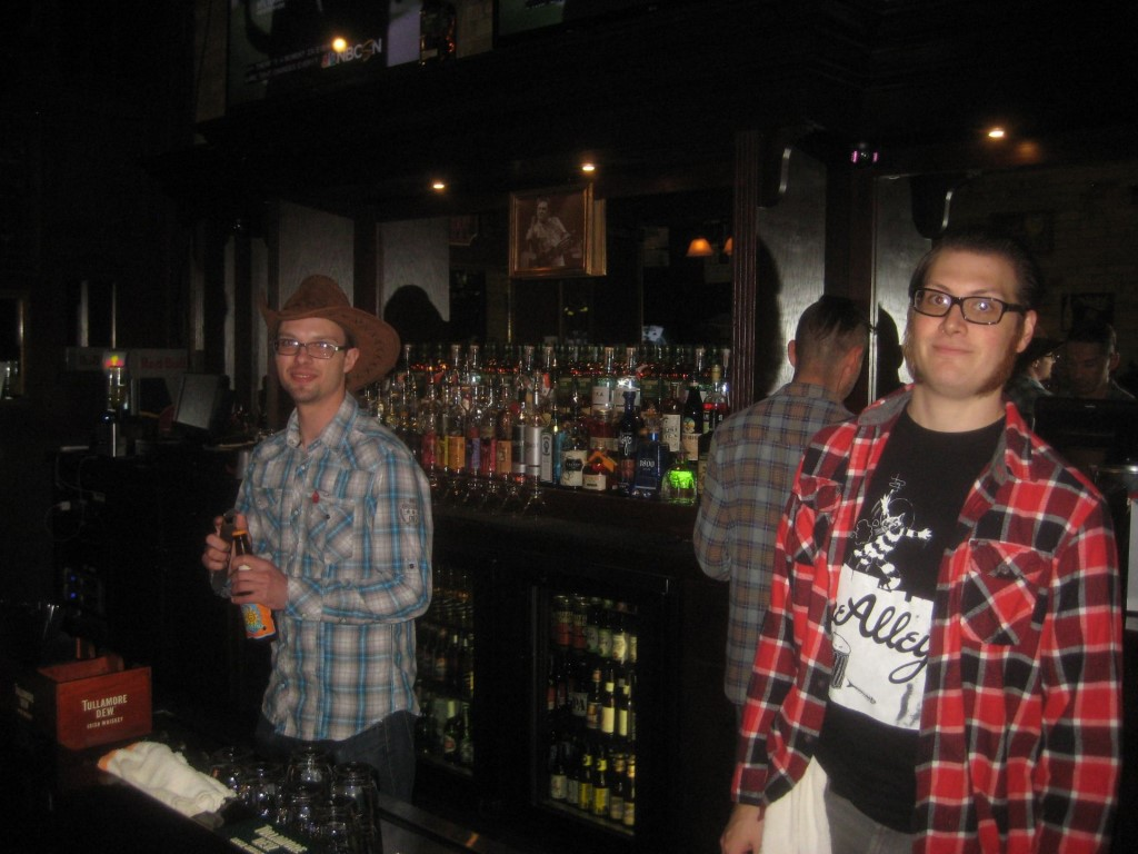 Working the bar at The Winchester. Photo by Michael Horne.