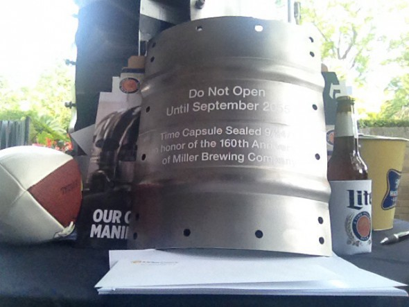 MillerCoors time capsule. Photo by Michael Holloway.