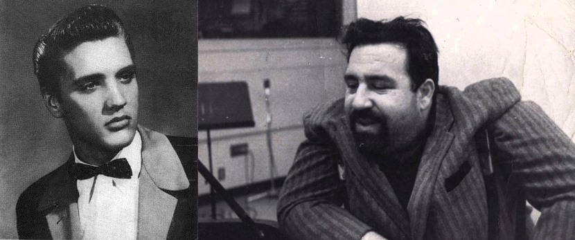 Elvis Presley and Doc Pomus.