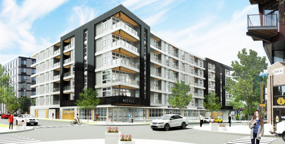 The Prospect Apartments rendering. Rendering by Rinka Chung Architecture.