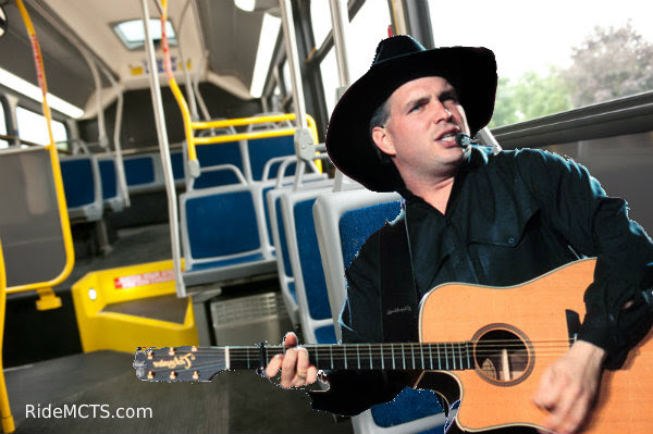 Garth Brooks rides MCTS (image from MCTS)
