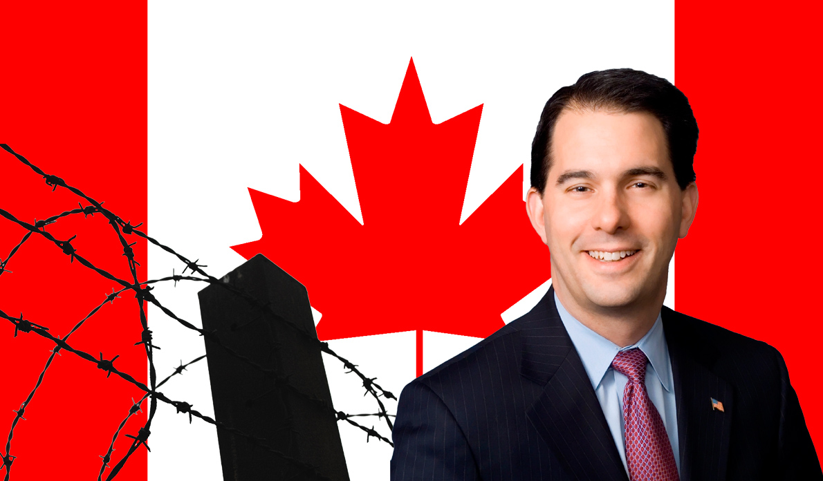 Scott Walker's Canadian Border Wall