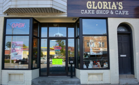 Gloria's Cake Shop & Café opened at 26th and National in December. Photo by Marlita A. Bevenue.