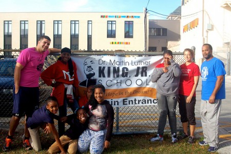 Dr. Martin Luther King Jr. School is one of nine Boys and Girls Club sites hosting running clubs leading up to the Milwaukee Running Festival. Other sites range from elementary to high schools in different parts of the city. Photo by Allison Dikanovic.