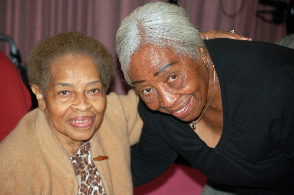 Mary Listenbee (right), 89, has been a senior companion for Lela Malone, 81, for three years. Photo by Edgar Mendez.