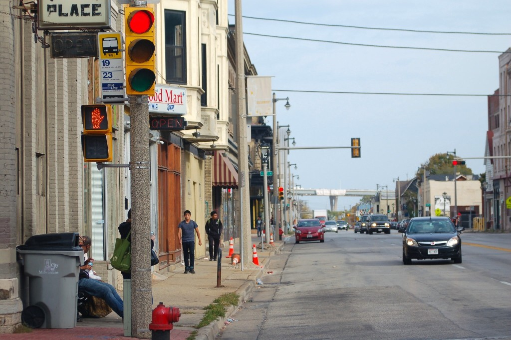 Several recommendations in the preliminary Walker Square Action Plan involve improvements to West National Avenue. Photo by Edgar Mendez.
