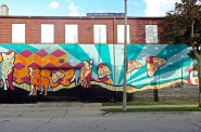 "The mural, titled ""A Source of Life,"" as seen from 31st Street. Photo by Jeff Redmon."