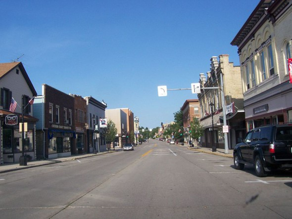 Downtown Plymouth, Wisconsin. Photo: Wikipedia