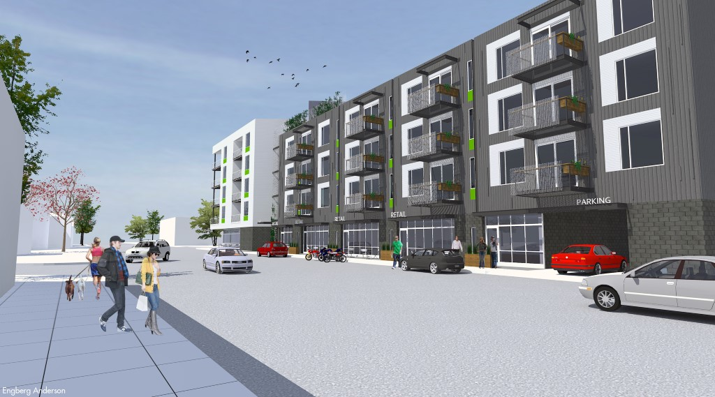 Rendering of Dwell Apartments