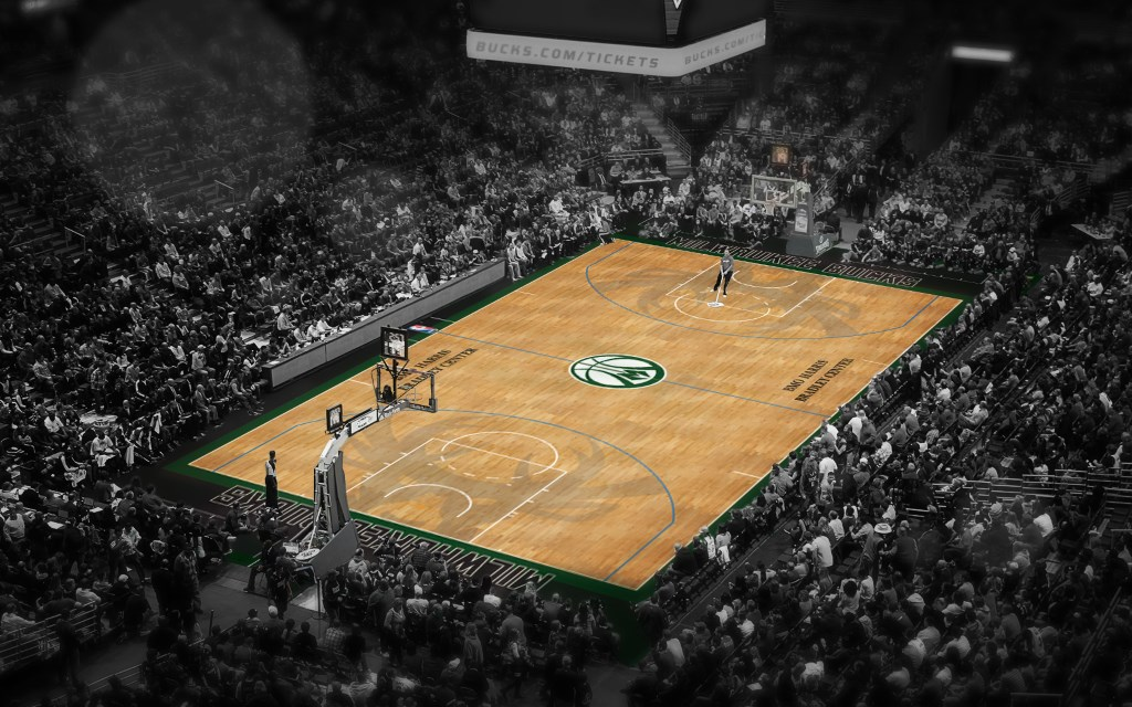 Fear the Deer Court. Image courtesy of the Milwaukee Bucks.