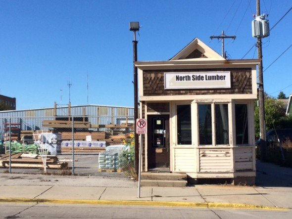 Old North Side Lumber Office. Photo by Graham Kilmer.