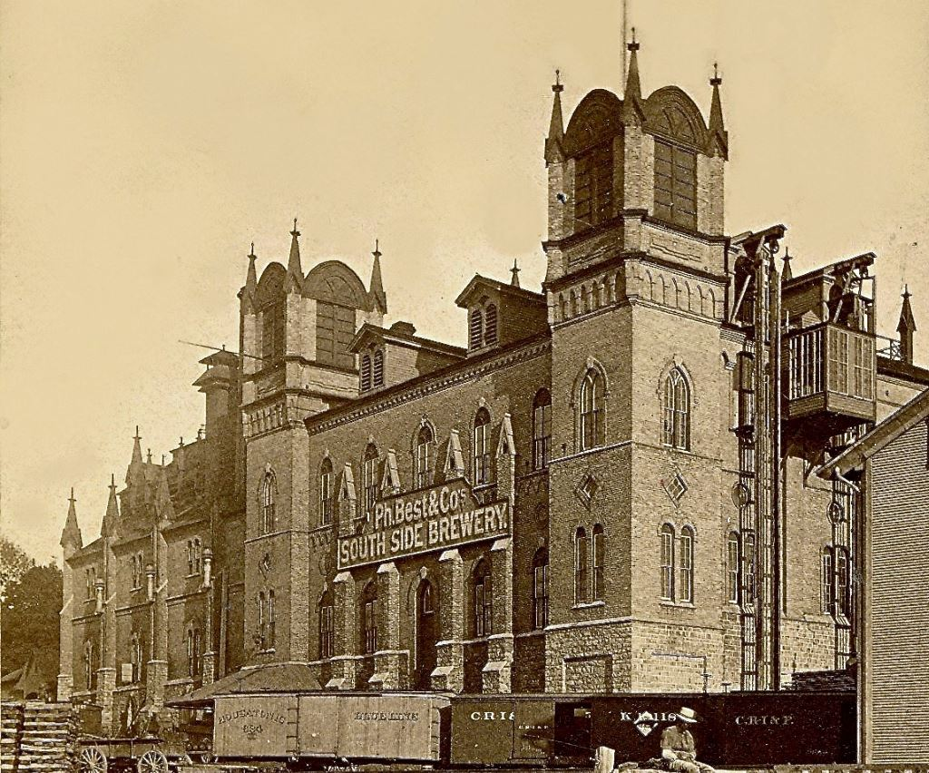 Philip Best & Co. Brewery, 1880. Image courtesy of Jeff Beutner.