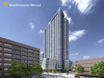 Northwestern Mutual to build 33-story residential, retail and parking tower