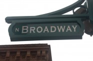 Third Ward street sign for Broadway. Photo by Carl Baehr.
