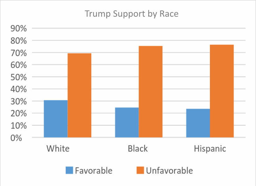 Trump Support by Race